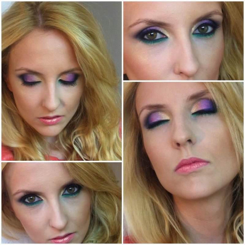 zielono-złote smoky eyes
