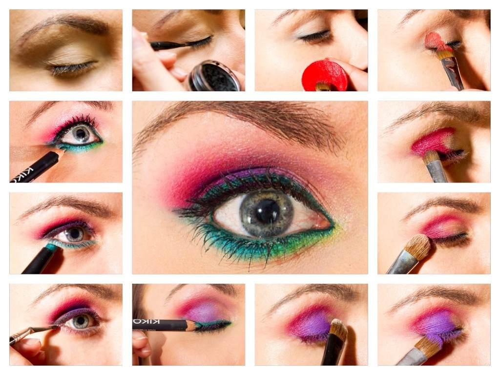 Bordowo Zielony Makijaż Oczu Step By Step